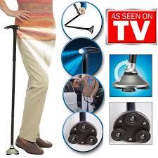 Exercise Chair As Seen On Tv Amazon Com Trusty Cane Led Folding Walking Triple Head Pivot Base