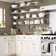 beautiful open kitchen shelves design ideas with white cabinet