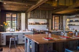 blue kitchen cabinets in cabin 40 rustic kitchen design ideas to