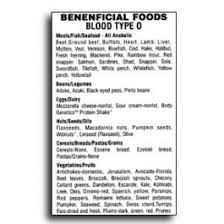 blood type o beneficial foods charts books charts u0026 videos