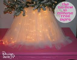 light up christmas skirt christmas wonderful no sew 10 minute tree skirt tree skirts