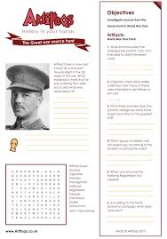 free worksheet the great war source hunt objectives investigate