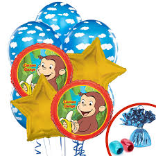 curious george balloon bouquet birthdayexpress