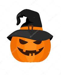 halloween pumpkin with witch hat vector u2014 stock vector ssstocker