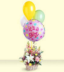 balloon delivery mesa az baby girl bouquet with balloons by ftd scottsdale arizona florist
