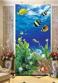 compare prices on tropical fish wallpaper online shopping buy low 3d room wallpaper custom murals non woven wall sticker tropical fish plants photo tv sofa