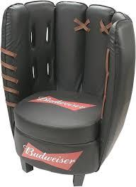 baseball chair and ottoman set baseball chair and ottoman crown mark baseball glove kids faux