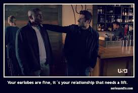 Psych Meme - shawn gus earlobes relationship quote meme psych series tv