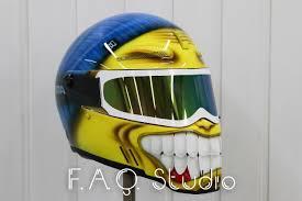 airbrushed motocross helmets hat helmet bandit alien ii custom airbrush аэрография шлема бандит