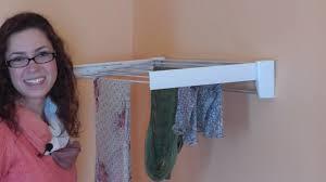 wall mounted drying rack for laundry leifheit telefix 70 wall mount drying rack youtube