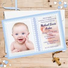 Christening Card Invitations 10 Personalised Boys Christening Baptism Invitations Photo Invites N59