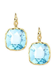 blue topaz earrings roberto coin roberto coin ipanema 18k gold square blue topaz