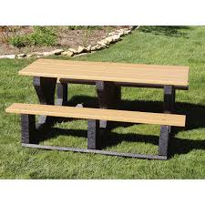 recycled plastic picnic tables 6 ft recycled plastic park picnic table portable by park tables