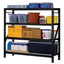Heavy Duty Garage Shelving by Husky Garage Shelving Unit 4 Adjustable Wire Shelves 77 W X 78 H X