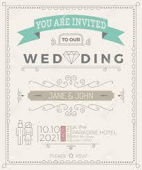 Simple Invitation Card Vintage Wedding Invitation Card Template With Clean U0026 Simple