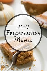 friendsgiving menu thanksgiving sides dessert