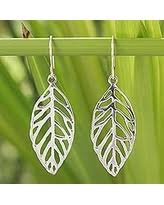 thailand earrings spectacular deal on sterling silver dangle earrings leaf chimes