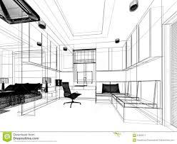 sketch design of study room stock illustration image 67820977
