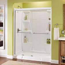 White Shower Door White Shower Doors Showers The Home Depot