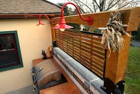 Outdoor Kitchen Lighting Sassy Gooseneck Lights Dress Up Outdoor Kitchen And Patio Blog
