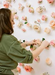inspiration how to make a floral backdrop lou what wear