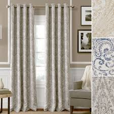 burgundy striped dupioni faux silk grommet top blackout curtain 84