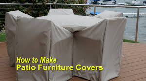 Plastic Outdoor Furniture by How To Make Patio Furniture Covers Youtube