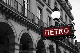 photographs of paris paris photography red metro sign street l print paris