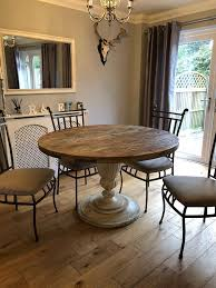solid oak round dining table 6 chairs solid oak round dining table 6 seater chairs in crawley west
