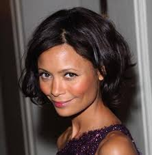 celebrities in short edgy hairstyles thandie newton bobs and
