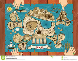 Treasure Maps Treasure Map On Desk Royalty Free Stock Photo Image 14974035