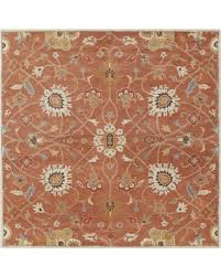 Area Rug Square Savings On Surya Caesar Cae1119 Brown Orange Classic Area Rug