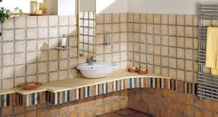 Rustic Tile Bathroom - bathroom tiles furniture chania oikos terzis