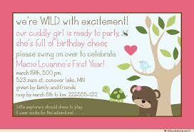 explorer pink birthday invitation first year wild
