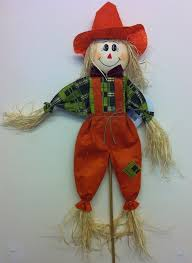 garden ornament boy scarecrow decorative feature finished