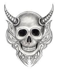 art skull devil tattoo stock illustration image of heavymetal
