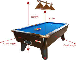 pool table sizes chart supreme pool table room size information