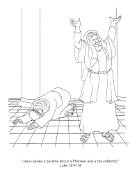 pharisee and tax collector coloring page eson me