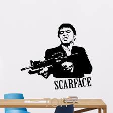 scarface home decor aliexpress com buy scarface wall decal al pacino mafia movies