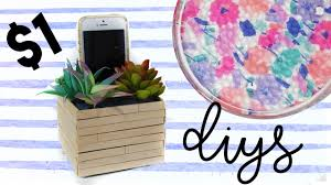 1 diy room decor dollar store diy projects youtube
