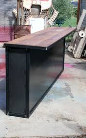comptoir de cuisine sur mesure comptoir bar sur mesure industriel bar comptoir