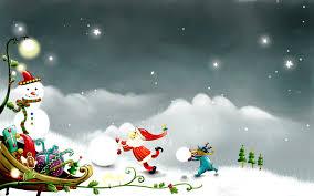 christmas cartoon wallpapers group 78
