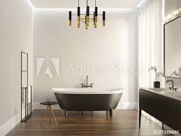 Adobe Bathrooms Black And White Modern Luxury Bathroom Image Adobe Stock