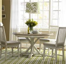 expandable dining table set coastal beach white oak round expandable dining table 54 zin home
