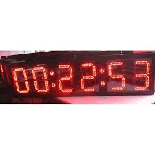 10 outdoor led race clock countdown count up sport timing for