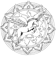 animals mandala coloring pages dove lion pegassus