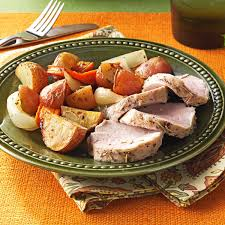 Roasted Vegetables Ina Garten by Roasted Pork Tenderloin And Vegetables Recipe Taste Of Home