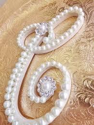 pearl monogram cake topper vintage pearl personalized monogram cake topper wedding cake