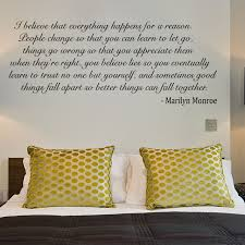 i believe marilyn monroe quote wall sticker decal black i believe marilyn monroe quote wall sticker decal black w74 x h30 amazon co uk kitchen home