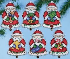 design works santa s gifts santa ornaments cross stitch kit
